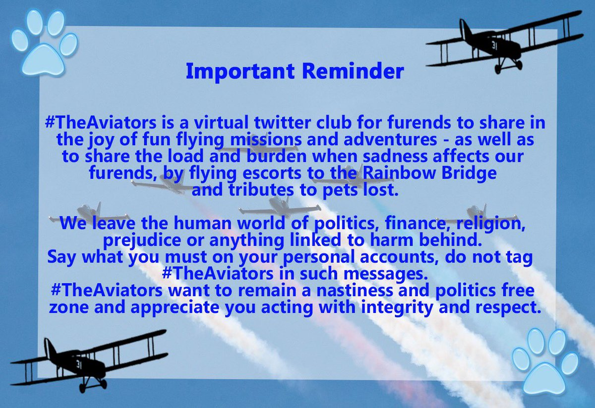 To all #TheAviators Please read carefully. Thank you https://t.co/VDYwzdrCc3