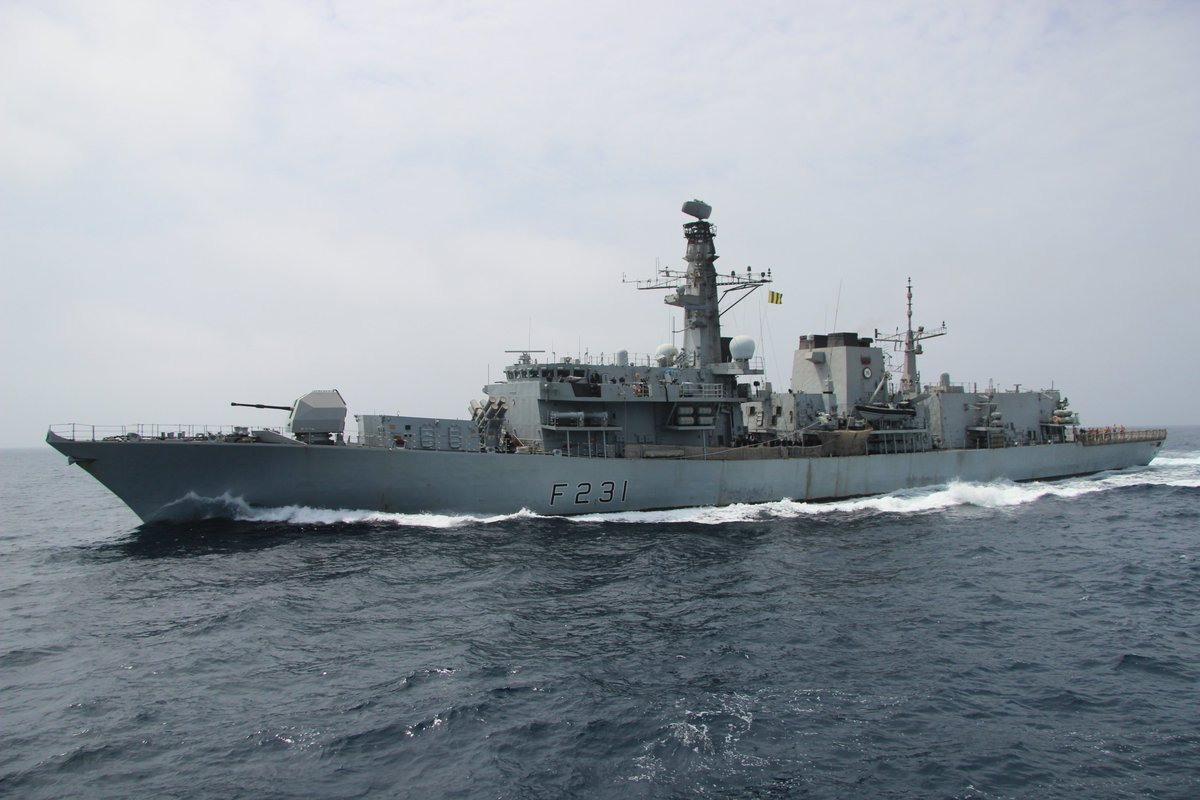 .@RoyalNavy warship @hms_argyll has served the @IMSC_Sentinel mission well. Thank you for your dedication to #FreedomOfNavigation and #GulfSecurity in the Arabian Gulf. Fair winds and following seas! 🇦🇱🇦🇺🇧🇭🇸🇦🇱🇹🇦🇪🇬🇧🇺🇸