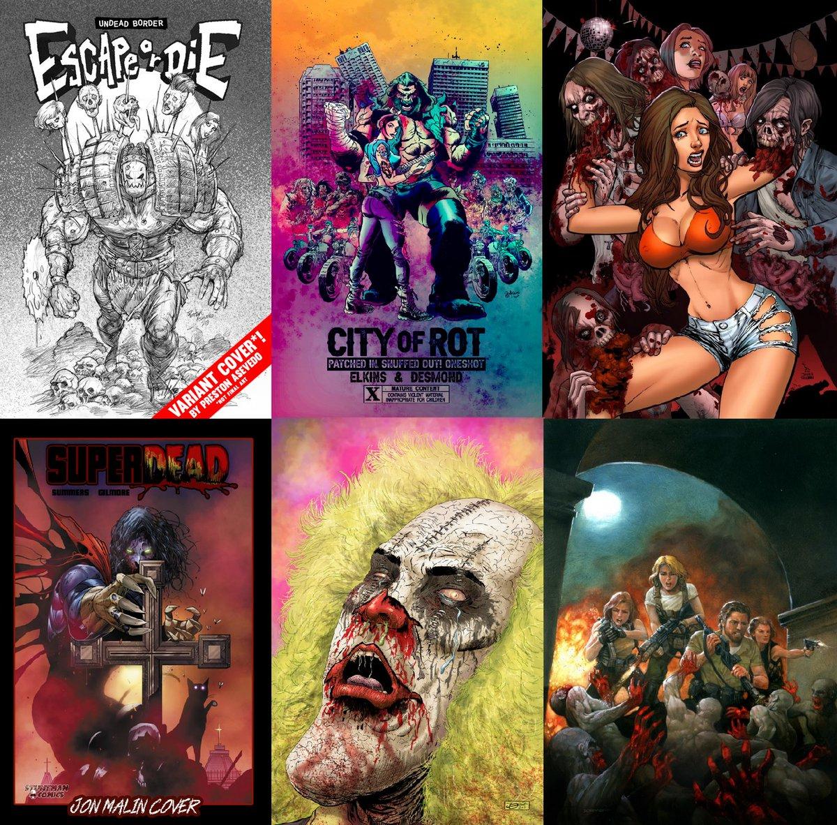 Escape or Die  https://t.co/q8WBXWi3zR  City of Rot https://t.co/mXyMUt5H2U  CotD: Graduation Day https://t.co/DjgGtPuvNj  Super Dead https://t.co/FQvqK7L7zu  Doomsday Kingdom https://t.co/9idJd6twRN  Black Tide Rising https://t.co/hy2ScXWizn  #Zombie #Horror #ComicsForEveryone https://t.co/3TvgCYA5BD