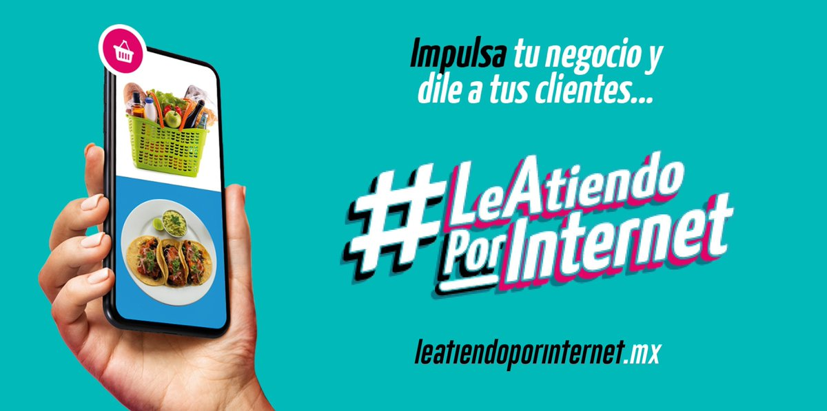 #LeAtiendoPorInternet es una iniciativa de la @Asoc_InternetMX  en conjunto con la Secretaría de Economía de México que, con ayuda de grandes empresas aliadas, busca promover la inclusión al mercado digital de las MiPyMes en México.  Ingresa a https://t.co/miNJcBiEsp https://t.co/J0FxUKMdm4