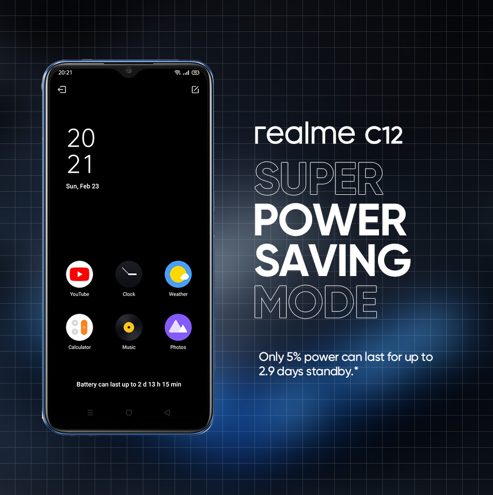 """realme Pakistan on Twitter: """"#realmeC12 has the 6000 mAh big battery tank  and has a super power saving mode! Made for extreme power saving. You can  still use the basic features of"""