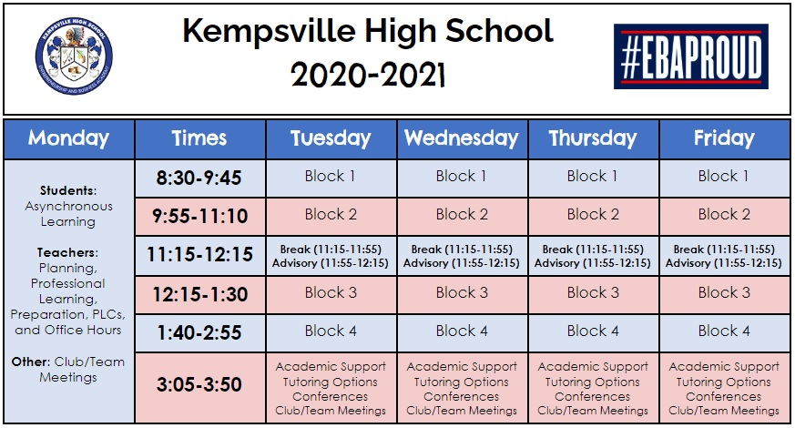 Happy First Day of School, Kempsville! ❤💙