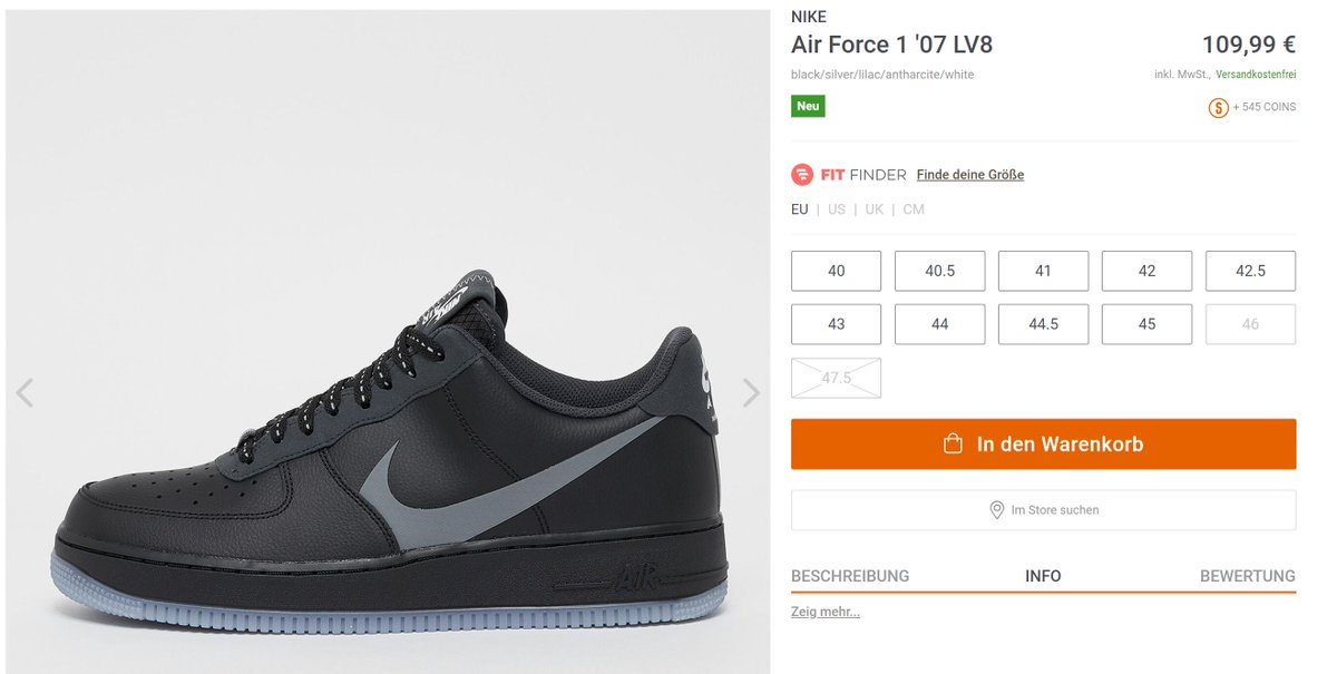 EU ONLY: The Nike Air Force 1 '07 LV8