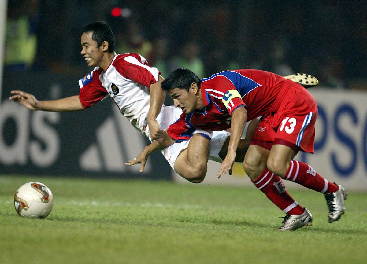 ⚽ Chukiat Noosarung 26' ⚽ Therdsak Chaiman 38' ⚽ Yaris Riyadi 46' ⚽ ____________ 79'  Do you remember who scored the equalising goal for Indonesia in the #AFFChampionship 2002 final? 🤔 https://t.co/sg3gJftXZv
