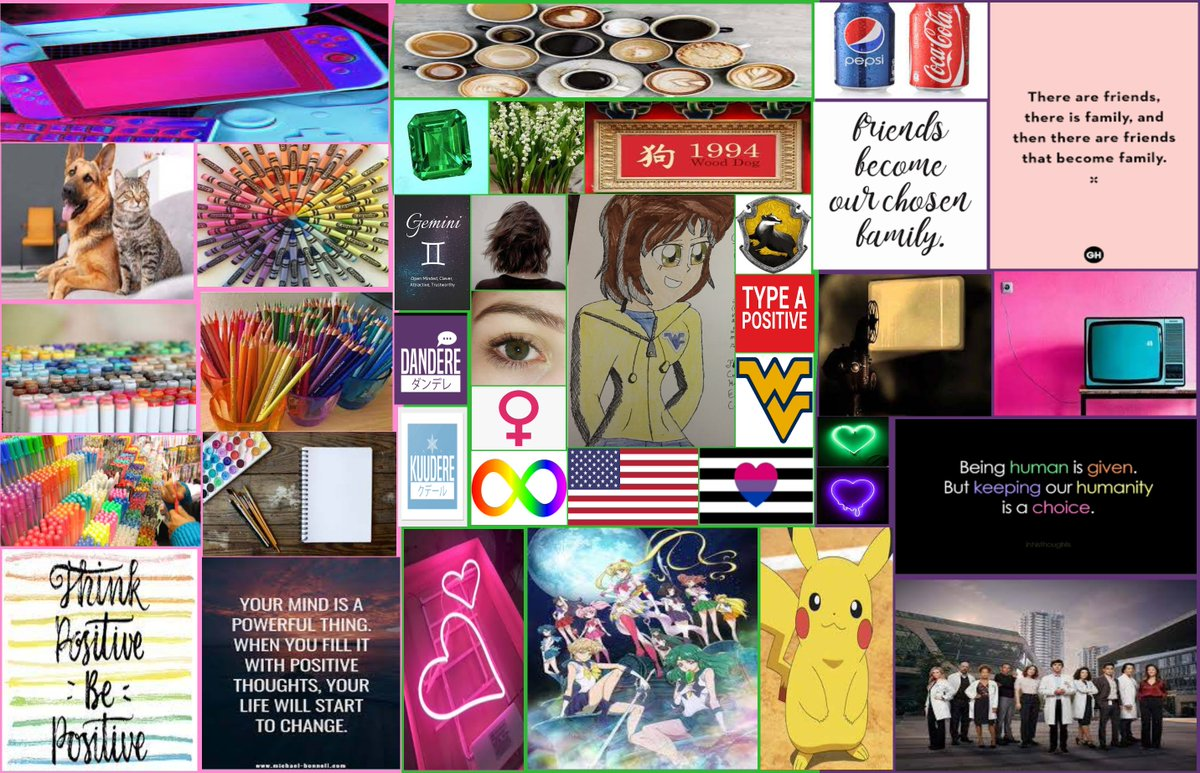 #FanArt #Remake: My own aesthetic board. 😁❤️🧡💛💚💙💜#SailorMoon #Pokemon #HarryPotter #TheGoodDoctor 😷❤️🧡💛💚💙💜 https://t.co/rhcnbVbrnV