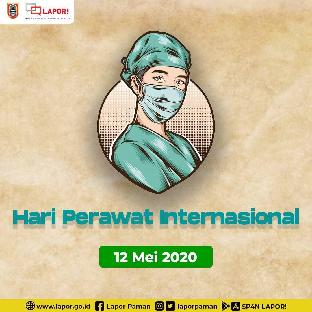 Hari Perawat Internasional 2020 Terima kasih kepada para perawat yang telah bekerja keras, terutama di masa pandemi ini. #lapor #lapor1708 #laporpaman #worldnurseday #kalsel #kalselmapan #bergerak #internationalnursesday #nakes https://t.co/6uiYvayHUu