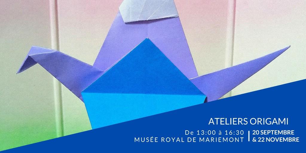 📣 Reprise des ateliers Origami ce 20 septembre au Musée royal de Mariemont ! Quatre saisons, quatre ateliers et quatre plongées dans le Geste et la Conscience. https://t.co/8OHOu0ks4P https://t.co/CF8VpIq6gG