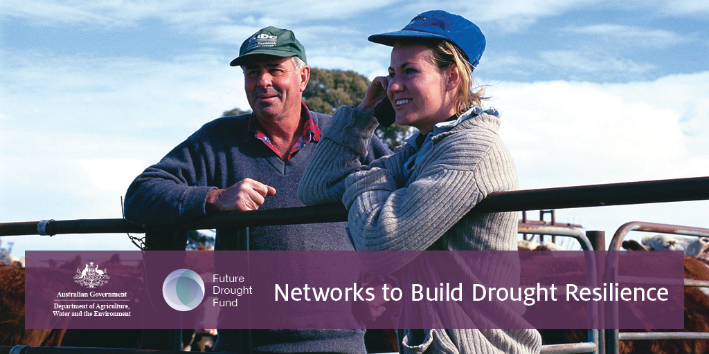 Hurry—submissions close 25 Sept for proposals from an organisation or consortium to run our $3.7m Networks to Build Drought Resilience program. Help #regional communities in Australia build networks to sustain them through tough times: https://t.co/nbCBC12sBv #FutureDroughtFund https://t.co/BnkczpXJ4g