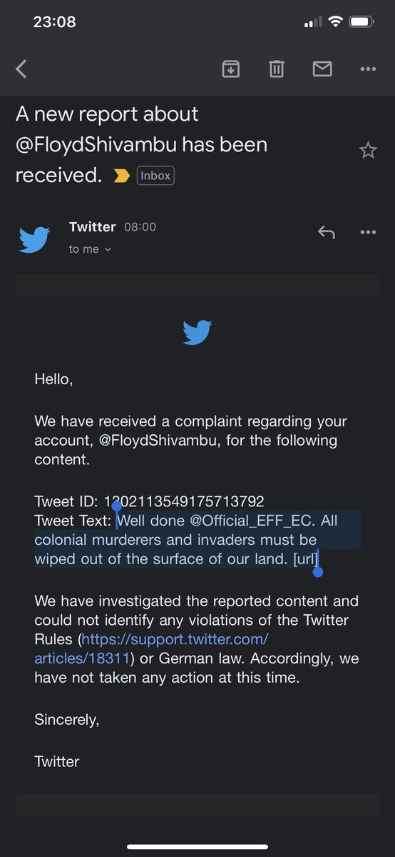Twitter dismissed complaints by the descendants. So let's repeat: ALL COLONIAL MURDERS AND INVADERS MUST BE WIPED OUT OF THE SURFACE OF THE EARTH!