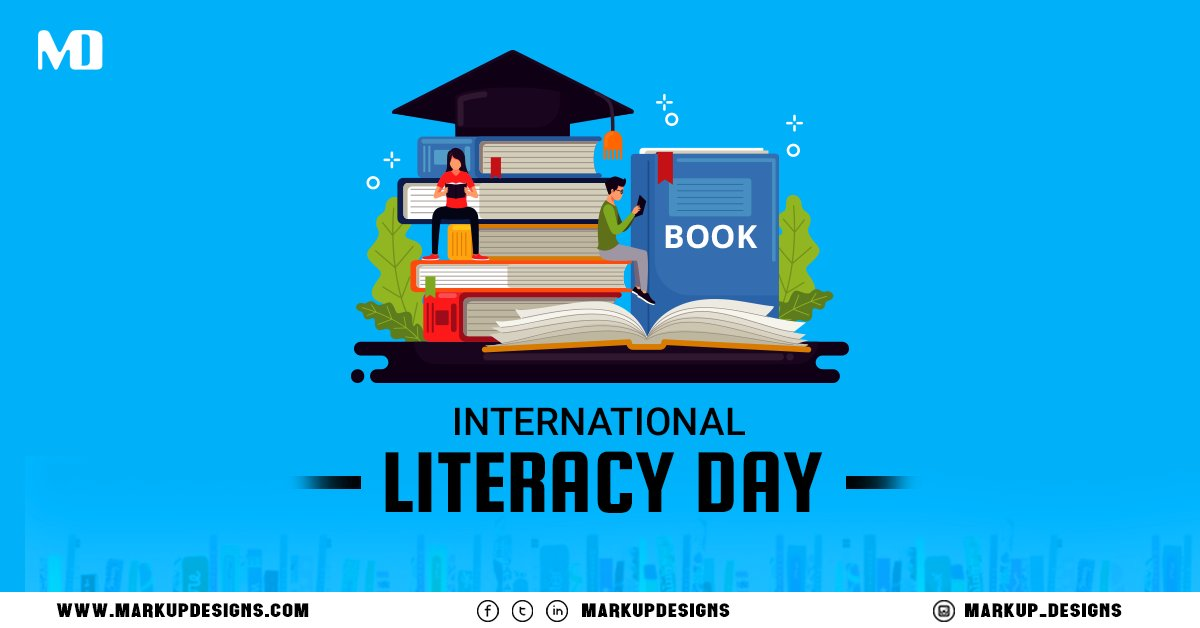 Education is the most powerful weapon for changing the world.  Happy International Literacy Day!  #LiteracyDay #InternationalLiteracyDay #Internationalliteracyday2020 #MarkupDesigns https://t.co/mEo2XRJWsf