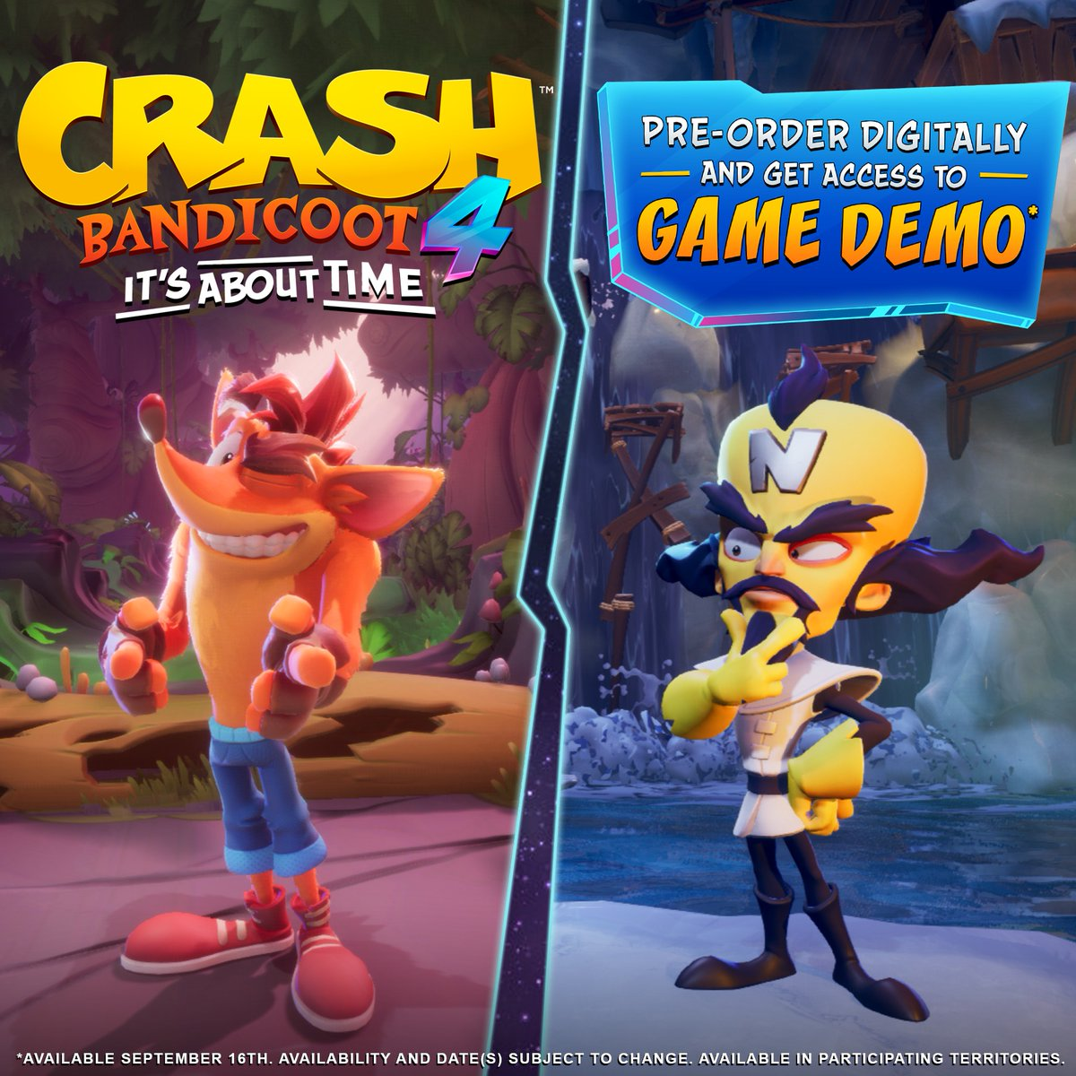 Crash Bandicoot On Twitter Can T Wait Until October 2nd Pre Order The Game Digitally And Get Access To The Crash4 Demo Available September 16 Https T Co Cmaigiewrq Https T Co I0bimmr572 Activision, crash team racing, ctr, crash bandicoot, crash and crash: crash bandicoot on twitter can t wait