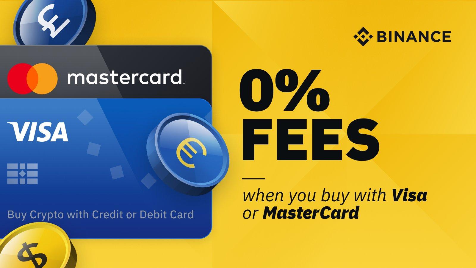 Uživatelé Binance v Evropě mohou koupit krypto s Visa a MasterCard za nulové poplatky
