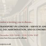 Image for the Tweet beginning: Discuss #transport in London with