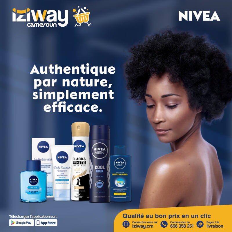 💥BOUTIQUE OFFICIELLE  NIVEA💥  La beauté est au rendez-vous sur iziway Cameroun. Béficiez des offres que vous propose la boutique Nivea: des laits de toilettes, gel de douche, savon, ...  Visitez la 👉https://t.co/gZ4D5XDFxd  #iziway #BoutiqueNivea #Nivea #Beaute #beauty https://t.co/34OuZH8UCu