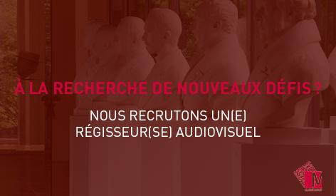 📣[Offre d'emploi] Le Musée recherche un Gradué spécialisé – Régisseur audiovisuel (H/F/X) pour un contrat de remplacement. Références de l'offre et plus d'infos : https://t.co/SQaevEkdjc  ⏰ Candidatures jusqu'au 26 septembre 2020 inclus. https://t.co/IxgoJuTxH1