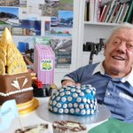 Throwback #5yearsago when we hosted our own #bakeoff with #StarWars #R2D2 Kenny Baker as the judge.  #cakebuilding #Preston  #MacmillanCoffeeMorning