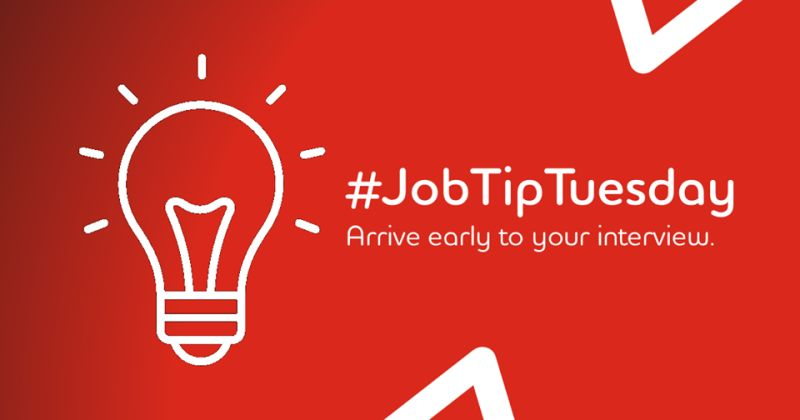 """#JobTipTuesday Experts in the hiring process agree that arriving early to your interview, whether virtual or in-person shows that """"you're professional, eager, ready to take up the job"""" and keeps you ahead of the rest of job applicants. #adeccomiddleeast https://t.co/OFxspDUa4j"""