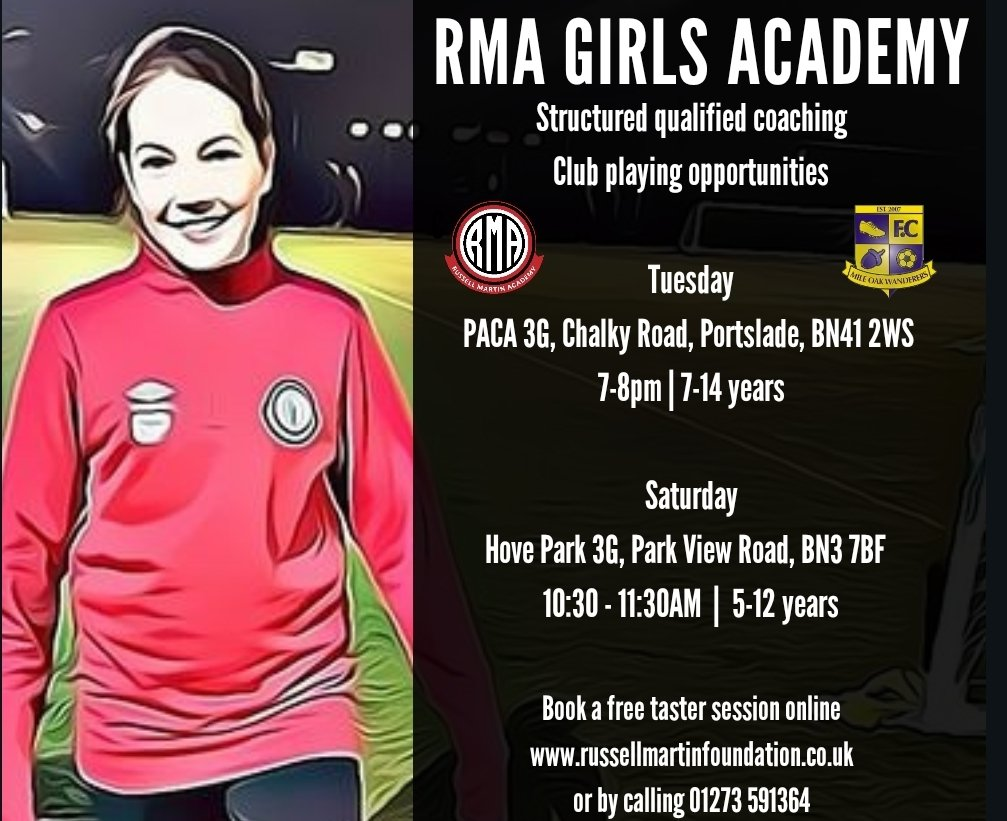 Tonight we start the new season for our RMA girls. Our girls pathway offers players structured sessions delivered by qualified coaches. Our partners local club MOW also offers the girls an opportunity to play club football too  For more information contact info@rmfoundation.co.uk https://t.co/41Vq90Tilu
