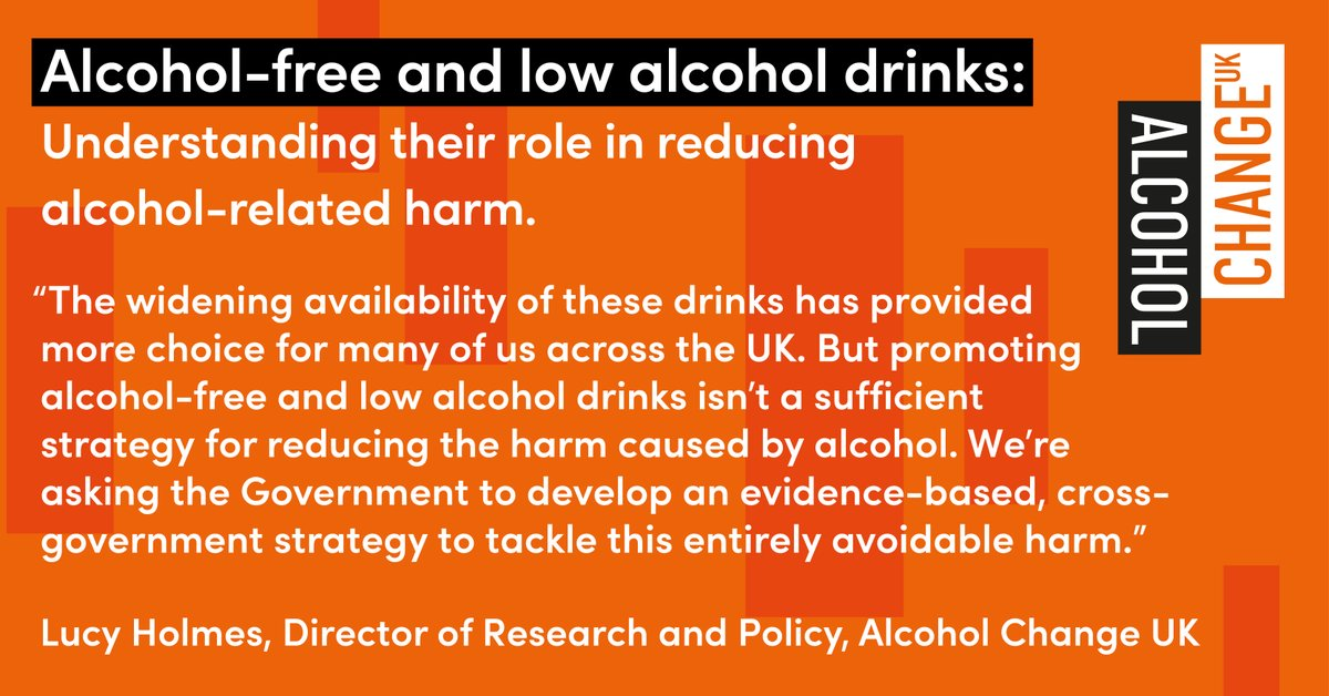 What's the role of alcohol-free/low alcohol drinks in reducing alcohol harm? They help 4/10 who try them to cut down - but promoting their uptake isn't a sufficient harm reduction strategy. Today's @SMFthinktank research informs our new policy insight: https://t.co/stJKX2rhQd https://t.co/eL7tNNyR0z