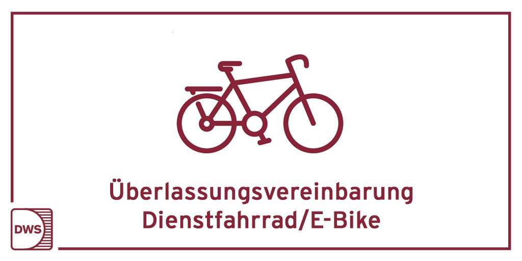 Dienstfahrräder werden immer beliebter. 🚲 Unser neuer Vordruck regelt die Rahmenbedingungen für eine rechtssichere Überlassung eines Fahrrades oder E-Bikes an Mitarbeiter: https://t.co/sXW3bN7Zos #DWS #Dienstfahrrad #EBike https://t.co/EgpLgYEJwb