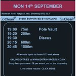 Image for the Tweet beginning: Monday 14th September! Entries via Entry4Sports