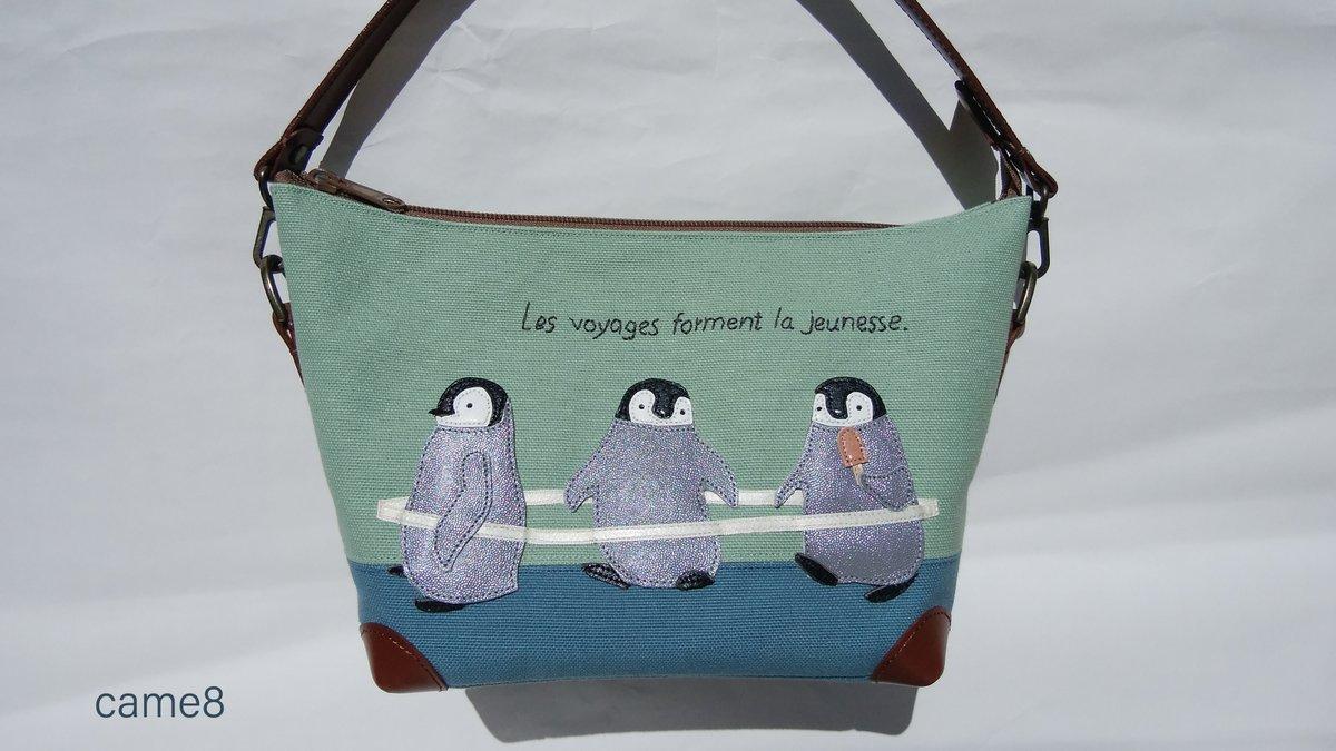 通販のお知らせ  9/12(土)22:30頃~ Creemaさんにてバッグ7点販売いたします。 現在、ショップページ左「展示作品」からご覧いただけます。 https://t.co/sm0mY9kOCk (または「came8」で検索)  ペンギン列車、シロクマ探検隊。 秋冬を意識したやや渋めな配色のバッグを増やしました。 https://t.co/4R9NL1FfOF
