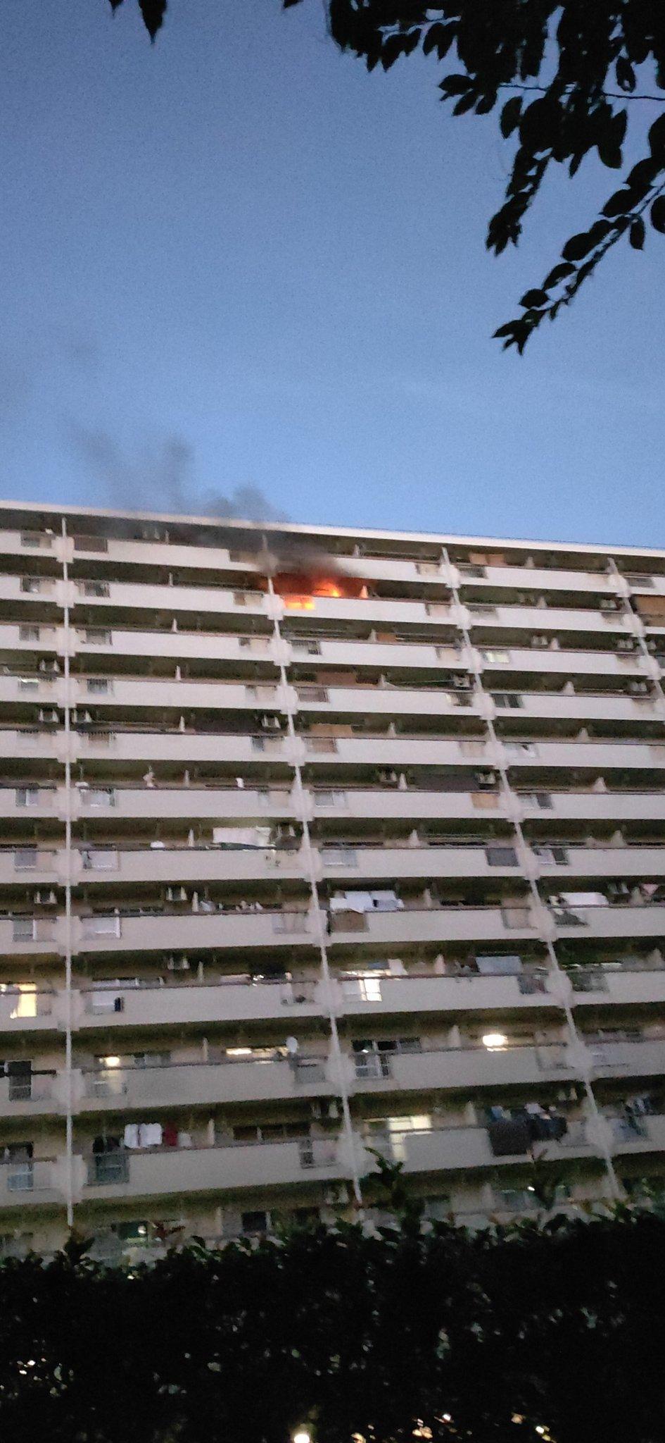 板橋区高島平の団地火災の現場画像