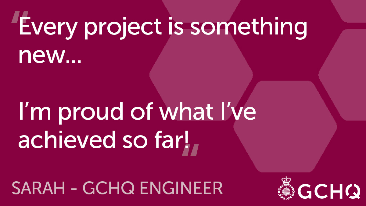 In our recent Q&A, Sarah how as a GCHQ engineer she regularly gets to grips with new tech and different ways of thinking 🤔 #JourneyToGCHQ ➡️ …ruitmentservices.applicationtrack.com/vx/lang-en-GB/…