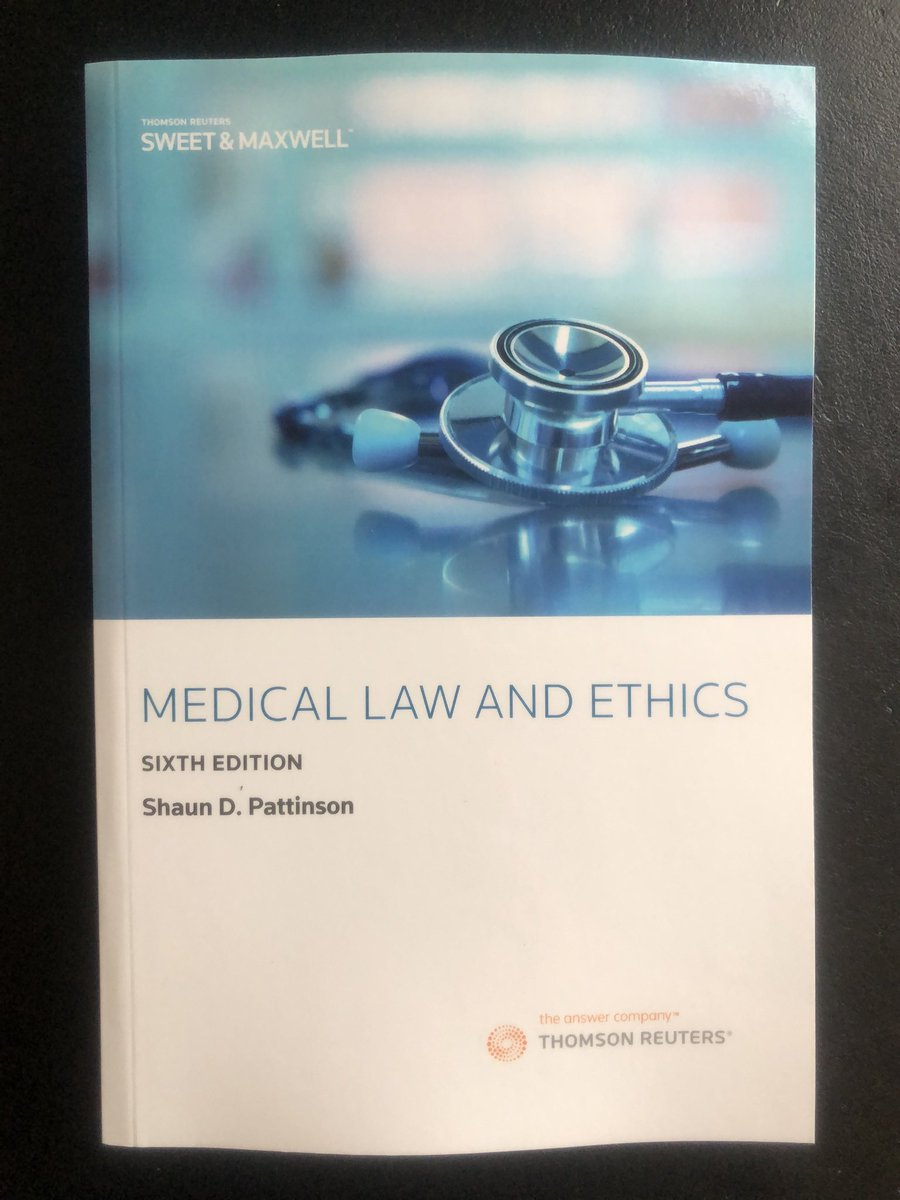 The doorbell has just rung and my copies of Medical Law and Ethics have arrived!