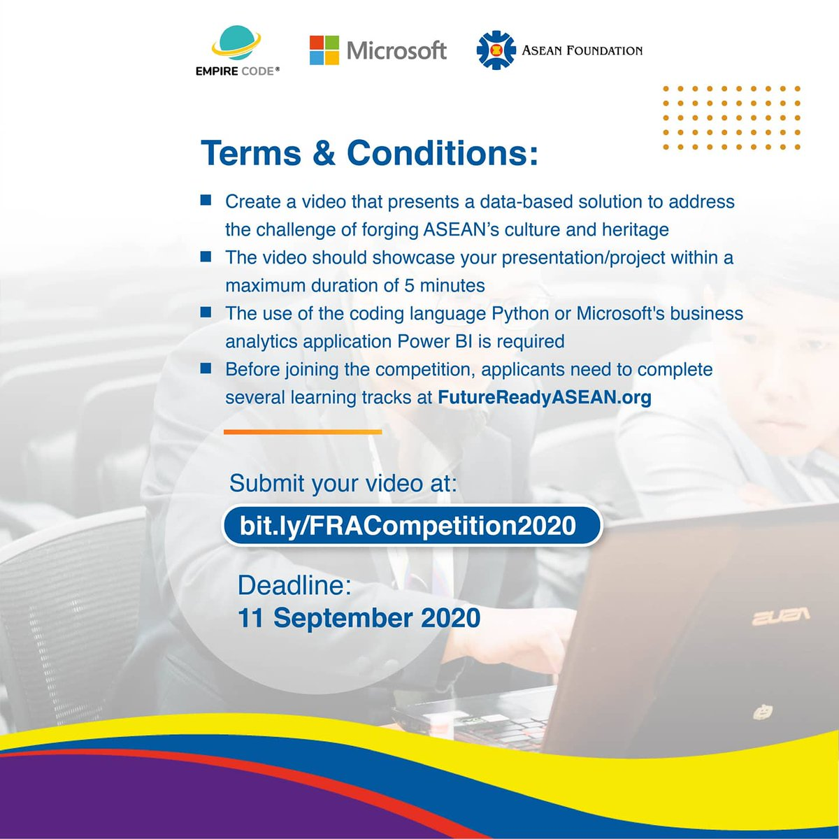 Asean Foundation Twitterren The Application Portal Of Future Ready Asean Competition Is Closing In Just 3 Days Hurry Up And Don T Wait Until The Last Minute Get A Chance To Win A