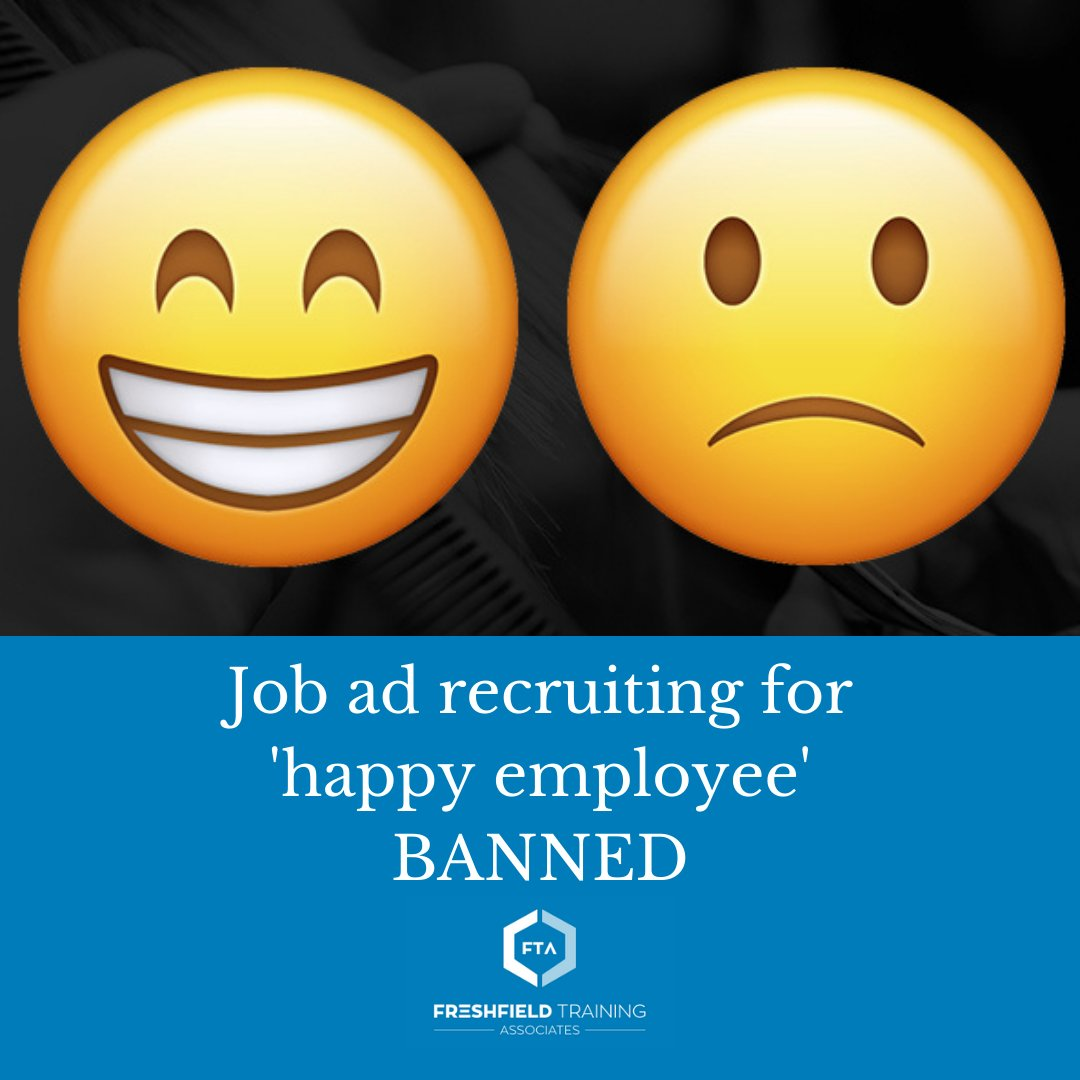 Last week, the boss of a small business was told that her 'happy person' advert must be taken down as it discriminated against unhappy people – The Daily Mail reported.  Read more: https://t.co/GudeYPoAoT  #discrimination https://t.co/pdPCpW4kOQ