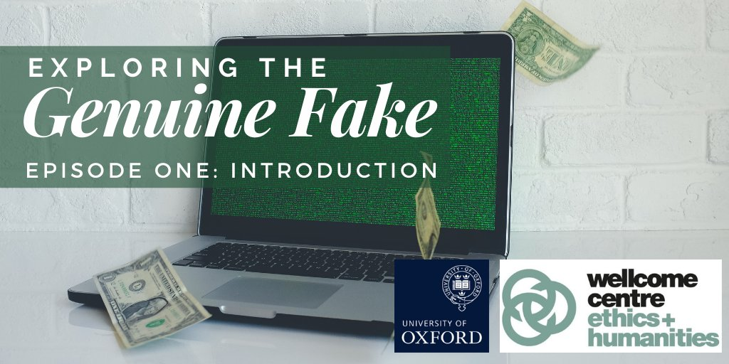 Did you know that TOMORROW at midday, @WEH_Oxford is releasing the FIRST episode in their series 'Exploring the Genuine Fake'? With Professor Patricia Kingori & @Chrome_Media @UniofOxford   Stay tuned! We will be dropping the link here!  #ExploringTheGenuineFake #Oxford #Podcast https://t.co/hPwW3KRBSA