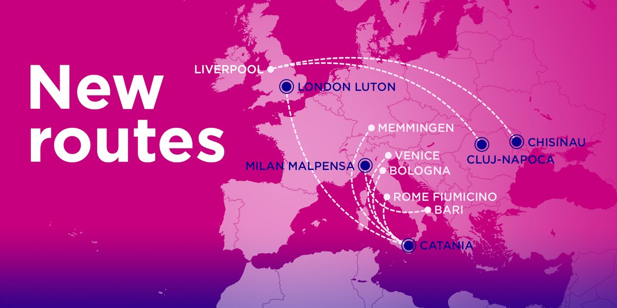 Wizz Air On Twitter From This October You Ll Be Able To Fly From Catania To Rome Bologna Venice Memmingen And London We Re Also Adding New Routes From Milan To Bari And Between