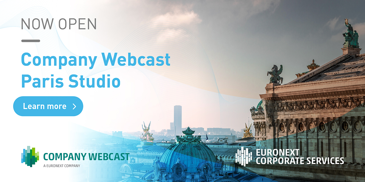 📢🆕 After Amsterdam, The Hague, Rotterdam and Brussels, Euronext Corporate Services opens a fifth #webinar studio in Paris, demonstrating its commitment to the French market where its technology has already been utilised by 50% of the #SBF120 companies https://t.co/sewcZzk8Co https://t.co/wUaN80zJOQ