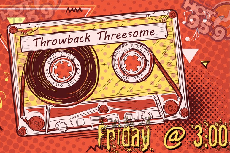 What should this Friday's #ThrowbackThreesome theme be? Drop your suggestions below! https://t.co/0sxZtI9nhF
