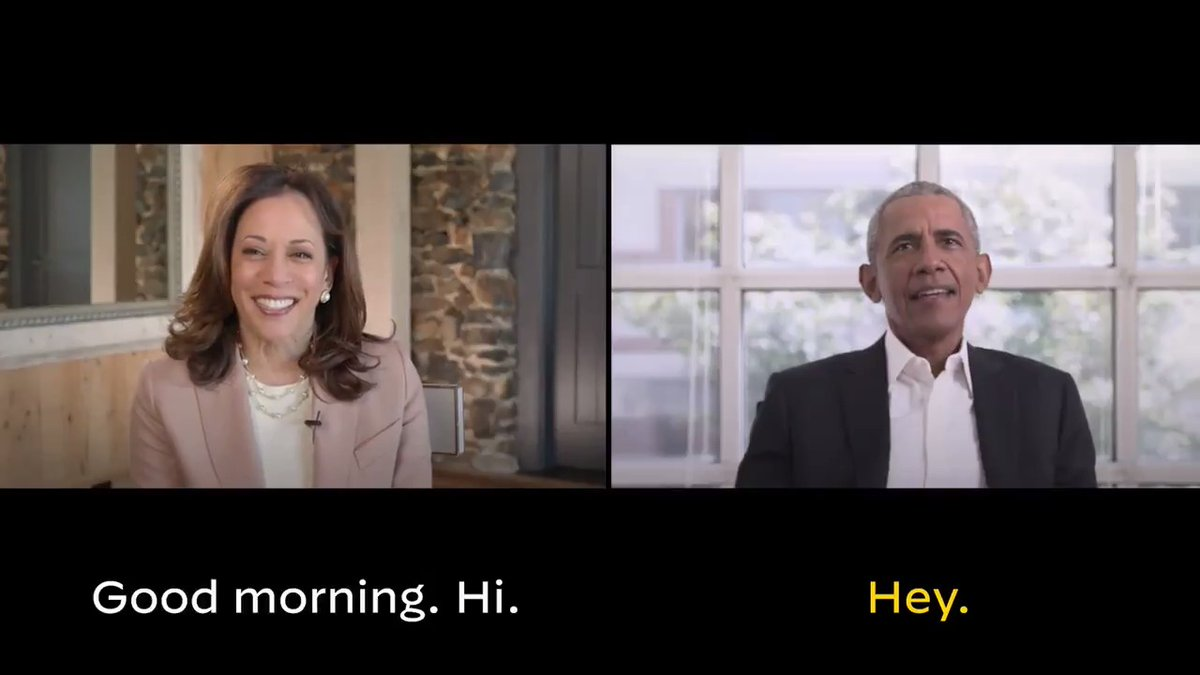 Great to catch up with our next Vice President, @KamalaHarris. I wanted to make sure to share a few tips about serving alongside our friend @JoeBiden. https://t.co/ncidvmylch