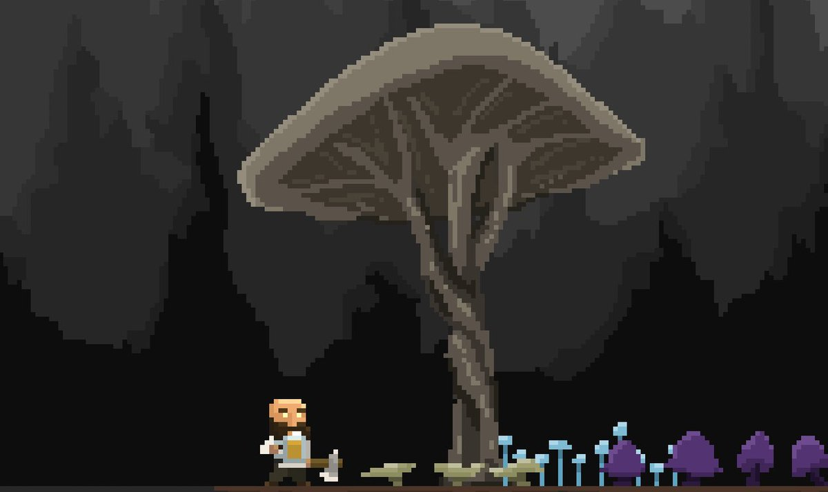 First person to guess where this large shroom is inspired from I'll give a free copy of Regions of Ruin #pixelart #dwarf #giveaway #gamedev #indiegame #indiedev #indiegamedev #gamedevelopment #WIP https://t.co/dTojsSSanu