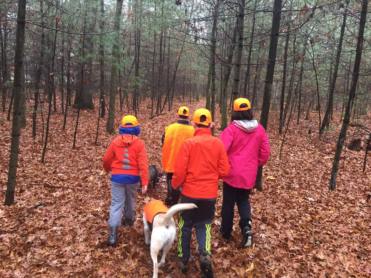 - Be safe, be seen -   Blaze orange is an important necessity for anyone outdoors in the woods during hunting seasons. While hunters are required to wear blaze orange during certain seasons, outdoor users in and around the woods should wear blaze orange clothing as a precaution. https://t.co/GKvuT3jtN4