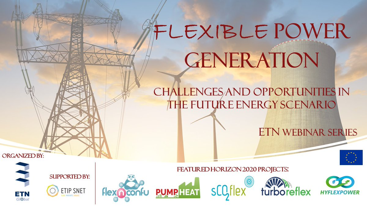 Our projects @HYFLEXPOWER_EU and @TurboReflex will participate in this webinar series on #FlexiblePowerGeneration coordinated by @etngasturbine. The introductory session takes place next week! #CleanEnergyEU #Renewables https://t.co/1oXZESk2vS
