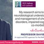 Image for the Tweet beginning: Introducing ICAT supervisor @DavidFinn14, researching