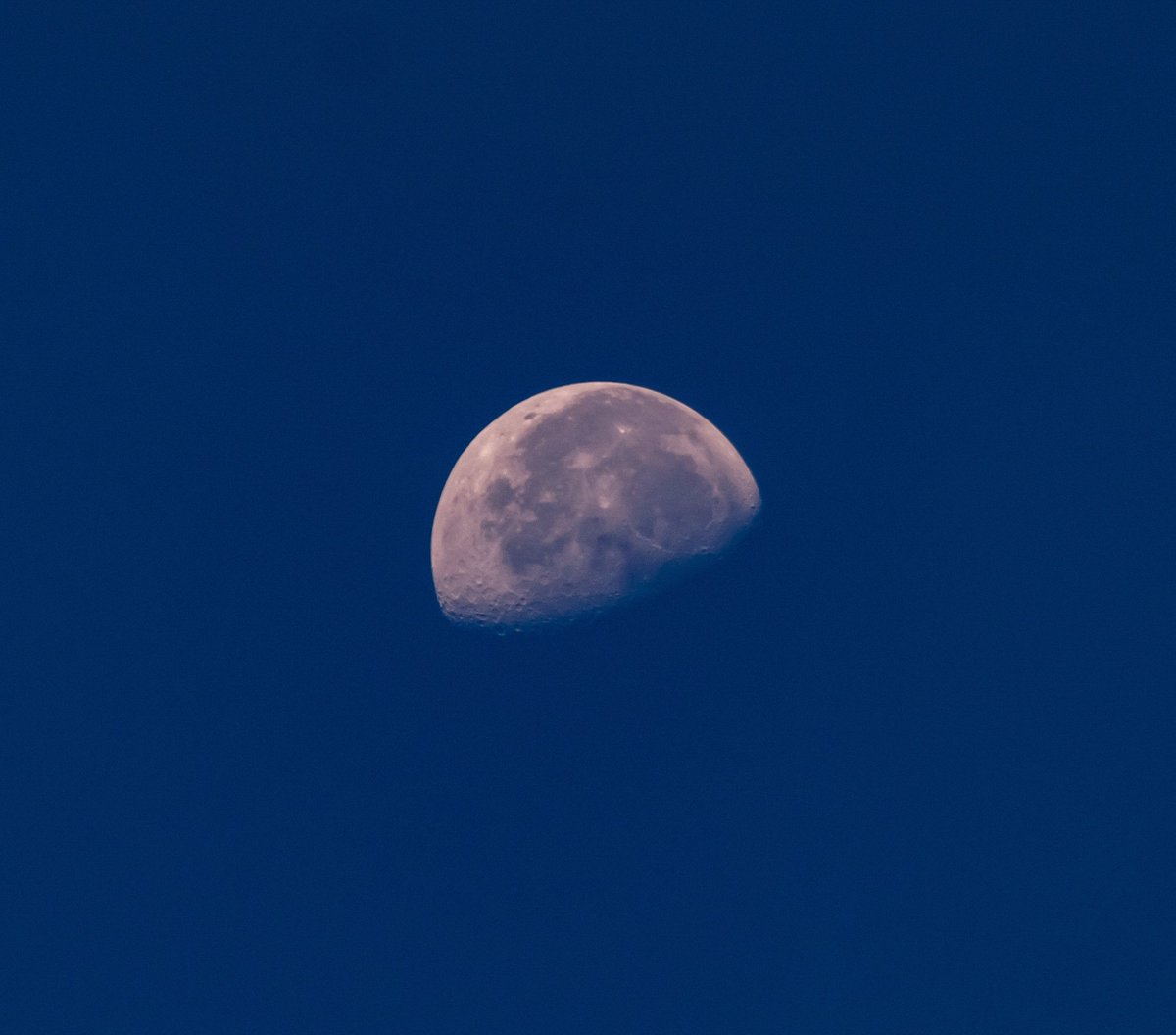 The moon this morning. #moonphases #waninggibbousmoon #canonsubjectchallenge #sky #weather #observethemoon #skywatcher #astrophotography #bluesky #blueskymoon #luna #naturephotography #naturewalks #naturetherapy #canont7i #summersky #summermoons #moonphotos https://t.co/s1mwPjufYF