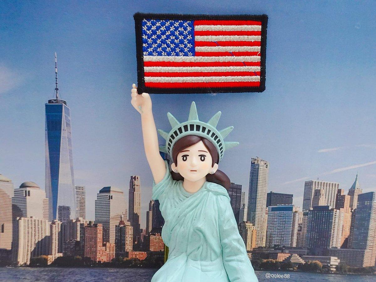 9月8日 #ニューヨークの日 (紐約日) #ニューヨーク #紐約 #newyork  #usa #アメリカ #美國 #刺繍 #wappen   #今日は何の日  #フチ子  #fuchiko  #fuchico  #杯緣子  #ol人形 https://t.co/AoTME5gsys