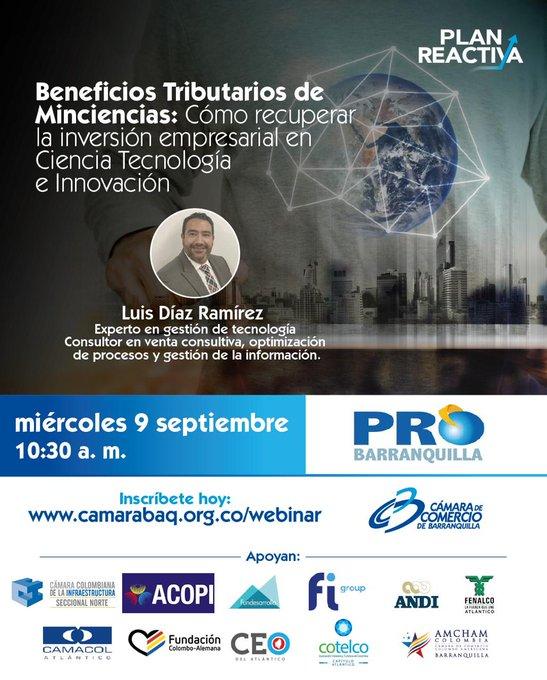 📢 Mañana, 9 de septiembre, estaremos con la  hablando sobre los beneficios tributarios por C....