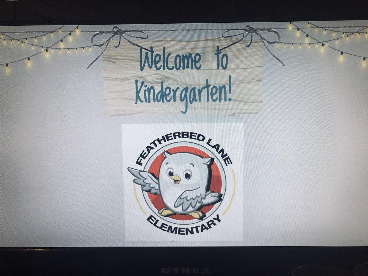 Happy First day of school! I'm excited to meet all my new Kindergarten friends and their families 😊