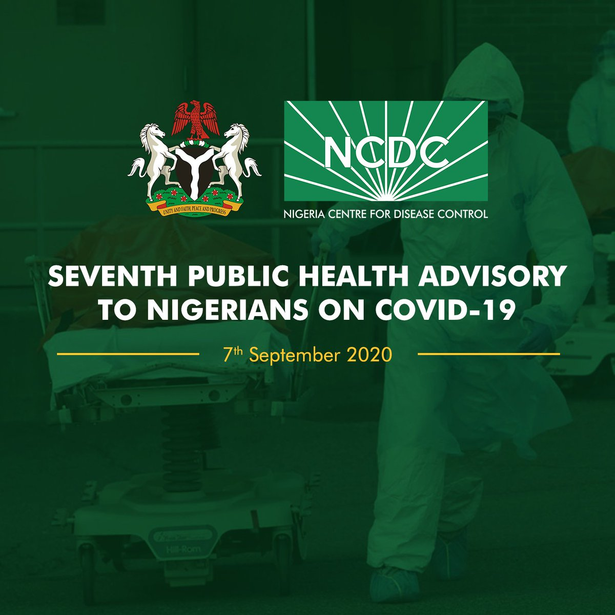 📢COVID-19 UPDATE!!! Our Public Health Advisory to Nigerians on #COVID19 is updated regularly to reflect the latest information on #COVID19Nigeria including: ✅Travel advice ✅Advice for health workers ✅Advice for businesses Read: covid19.ncdc.gov.ng/advisory/ #TakeResponsibility