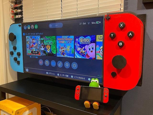 """推主做了一個""""巨大的Nintendo Switch""""~ EhZfcK0UMAEW6ML"""