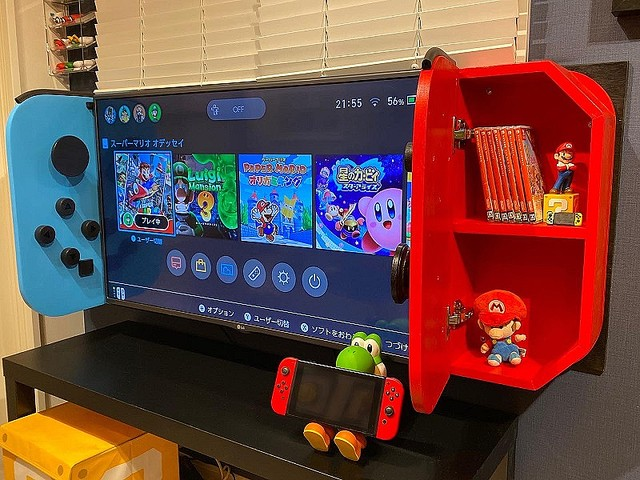 "推主做了一個""巨大的Nintendo Switch""~ EhZfeo6UMAIhbfe"