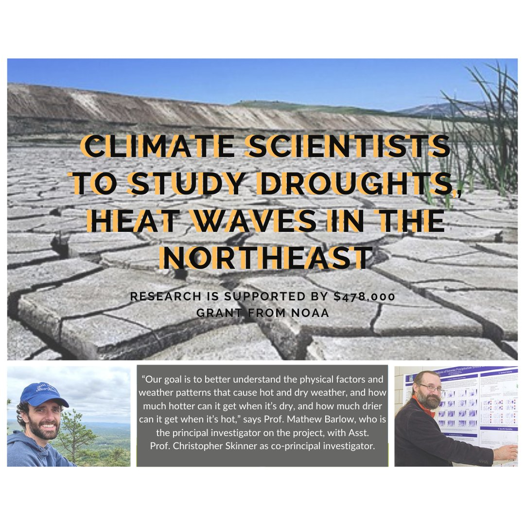 Big things are happening in EEAS! Drs. Barlow & Skinner will study the cause of heat waves and droughts in the Northeast region of the U.S. and how they interact with each other under a three-year, $478,000 grant from the @NOAA. https://t.co/WGlchcSnjZ https://t.co/pCzmMBdpn8