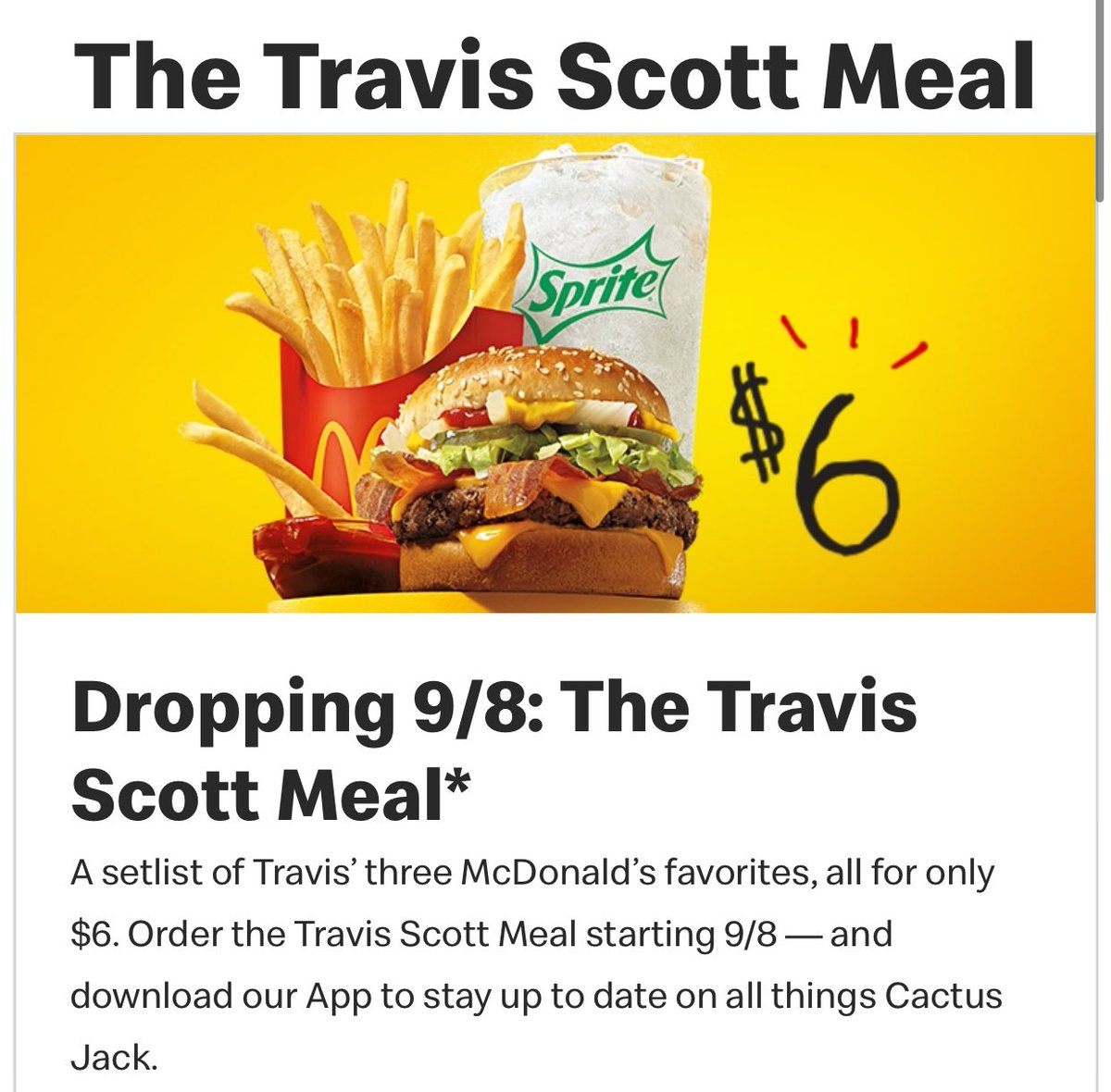 WAIT THE TRAVIS SCOTT MEAL IS REAL I THOUGHT IT WAS A JOKE https://t.co/ytFFCflKDB