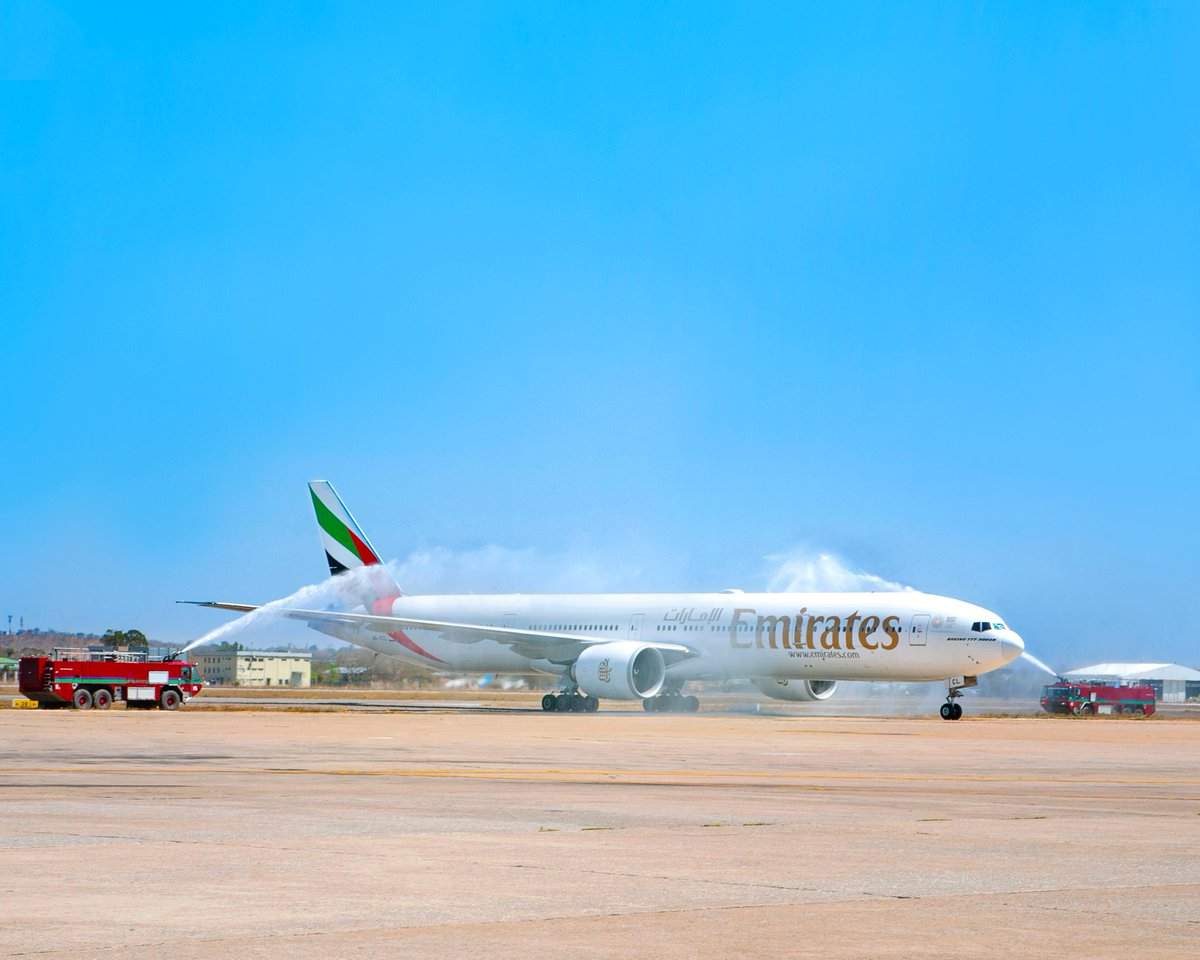 Hello Zambia! It's nice to see you again. Emirates is now back in 84 cities across six continents, including 13 destinations in Africa. @BoeingAirplanes @DXB @ZambiaAirports   #FlyEmiratesFlyBetter #Above_The_Clouds https://t.co/OfYblYyzng